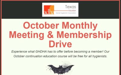 GHDHA October Monthly Meeting & Membership Drive 10/1/19