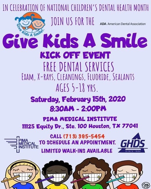 Volunteers Needed: PIMA Give Kids a Smile 2/15/20