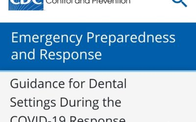 CDC Guidance for Dental Settings During the COVID-19 Response 6/3/20