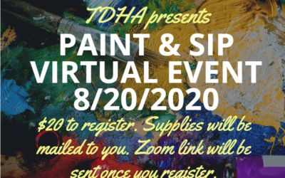 TDHA Paint & Sip Virtual Event: 8/20/20