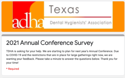 TDHA 2021 Annual Conference Survery