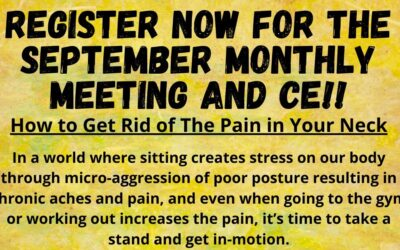 GHDHA September Monthly Meeting & Ergonomics CE: 9/8/20