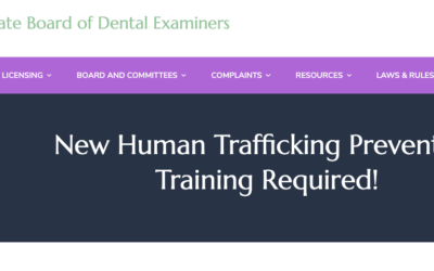 TSBDE: New Human Trafficking Prevention Training Required! 9/1/2020