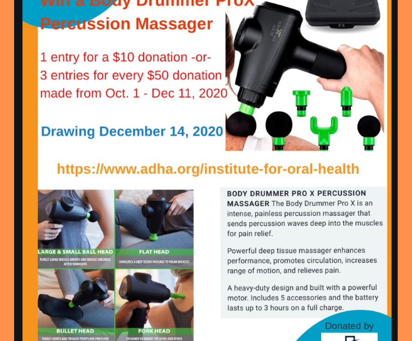 IOH Fundraiser: Win a Body Drummer ProX Percussion Massager