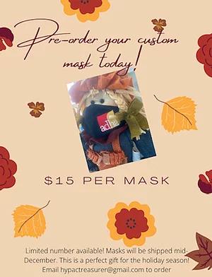 Order Your ADHA Custom Mask!