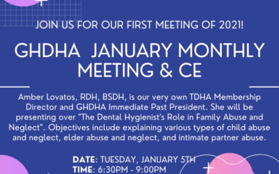 GHDHA January 2021 Monthly Meeting: 1/5/21