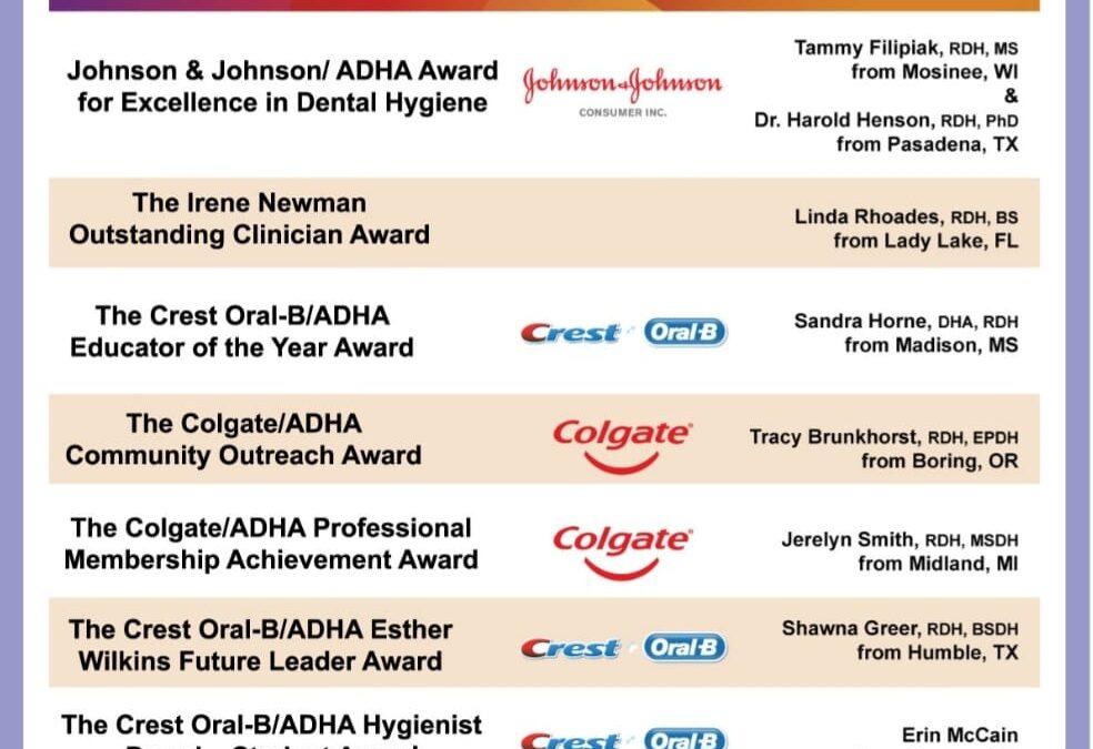 ADHA Award Winners!