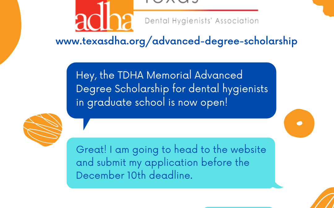 TDHA Advanced Degree Scholarship Open